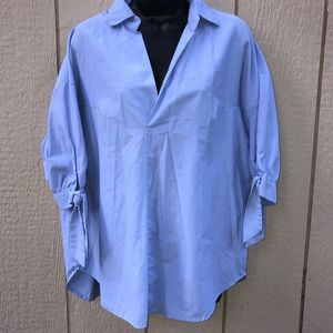 Simply Couture blue blouse size XL
